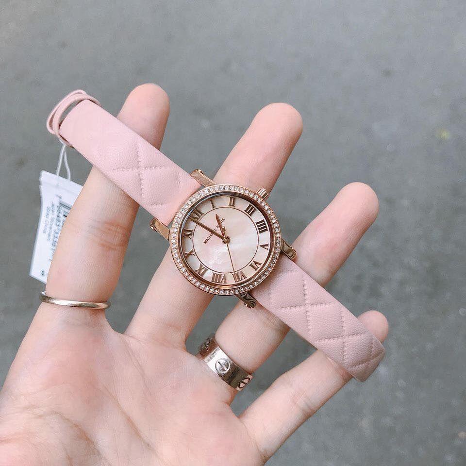 Đồng hồ Michael Kors MK2683 dây da, màu hồng phấn 1