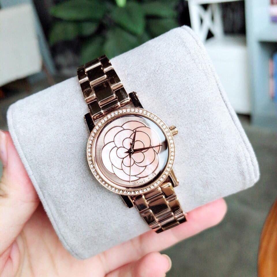 Đồng hồ Michael Kors MK3892 vàng hồng, đính đá 1