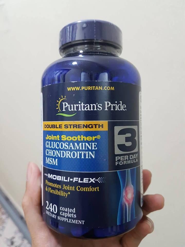 Viên Bổ Sung Glucosamine MSM Puritan's Pride Của Mỹ