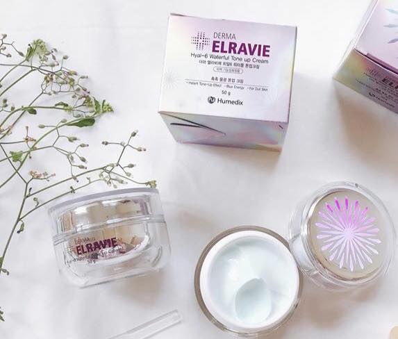Kem dưỡng trắng da trị nám Elravie Hyal 6 Waterful Tone up Cream 1