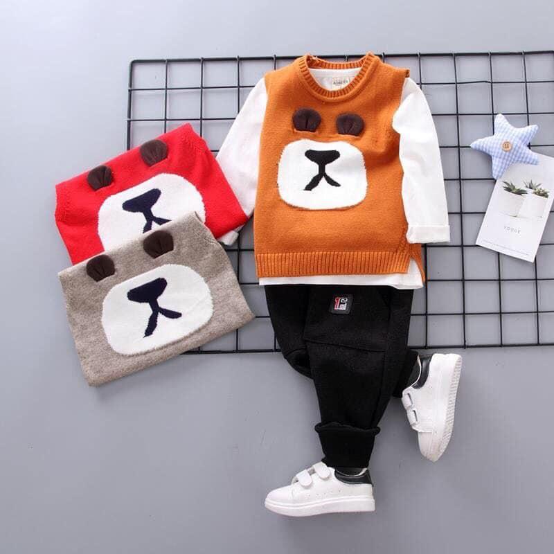 Set áo len 3 chi tiết cho bé trai từ 9 - 15kg 6