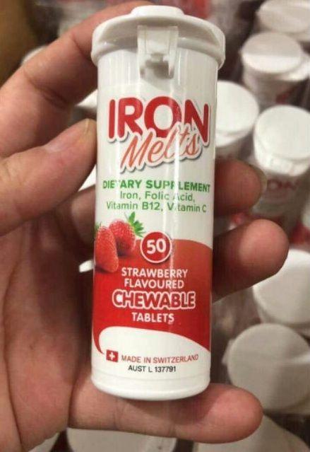 Iron Melts - Viên bổ sung Sắt, Acid Folic, vitamin B12 và vitamin C 1