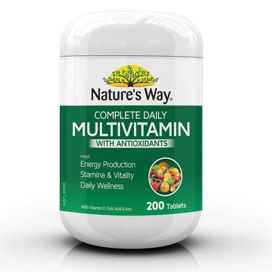 Vitamin tổng hợp & tảo biển Nature's Way Multivitamin Spirulina 200 viên 1