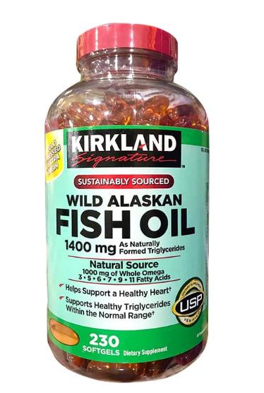 Dầu cá Kirkland Wild Alaskan Fish Oil 1400mg 1