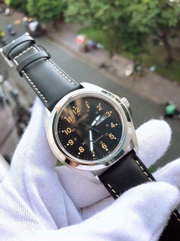 Đồng hồ Citizen Eco Drive AW0050-07E dây da 1