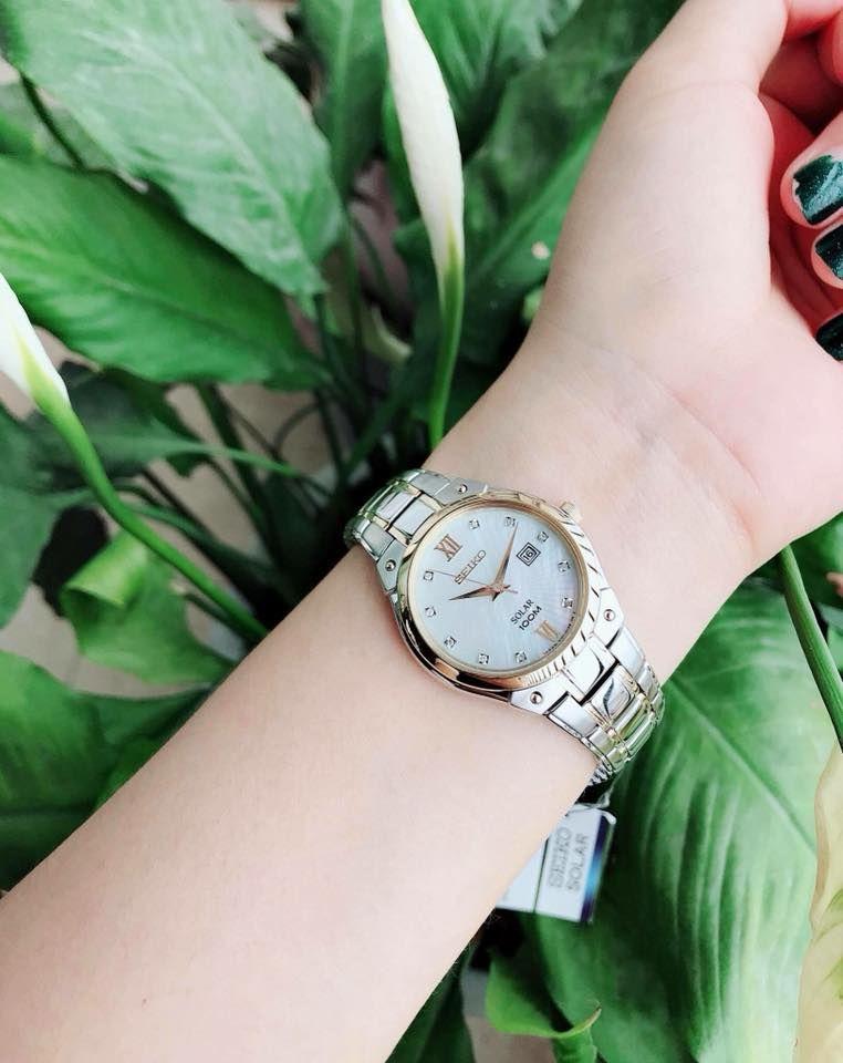 Đồng hồ Seiko Solar SUT214 case 30 cho nữ 4