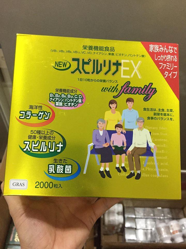 Tảo vàng Nhật Bản Spirulina EX 2000 viên