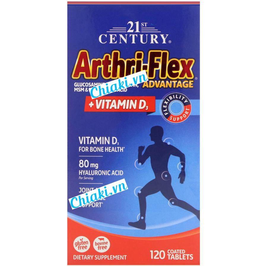 Arthri Flex + Vitamin D3 180 viên của Mỹ 1
