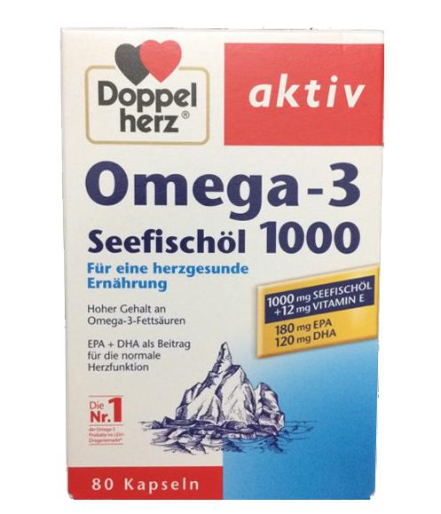 Dầu cá Đức Omega 3 Doppelherz seefischol 1000mg + vitamin E