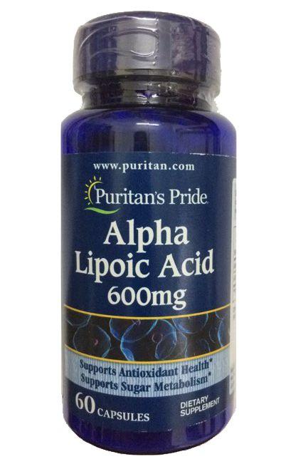 Viên uống bổ sung Alpha Lipoic Acid 600 mg Puritan's Pride 1