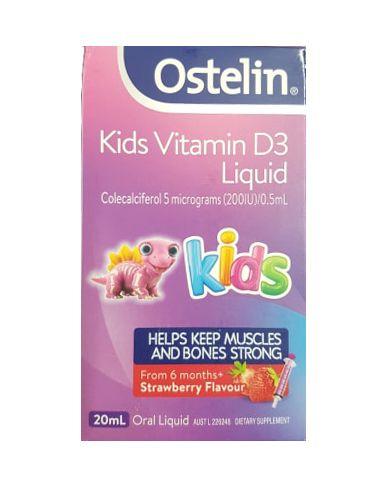 Vitamin D Ostelin liquid Kids dạng nước của Úc 20ml 2