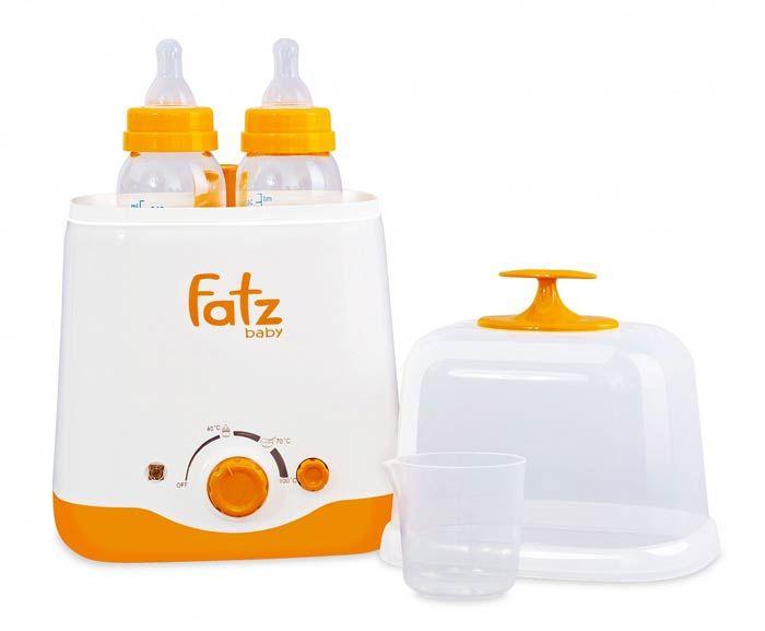 Máy Hâm và Tiệt Trùng Bình Sữa Fatzbaby 2 Bình Cổ Rộng chính hãng