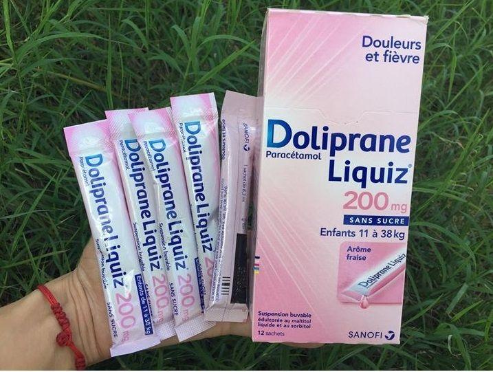 Siro hỗ trợ hạ sốt Doliprane Liquiz của Pháp 2