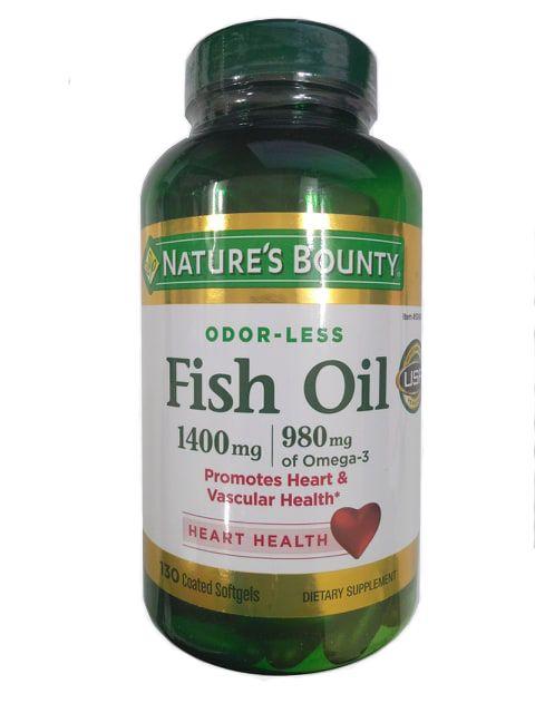 Dầu Cá Không Mùi Nature's Bounty Fish Oil 1400mg 130 Viên