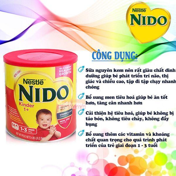 sữa Nido nắp đỏ 800g chính hãng
