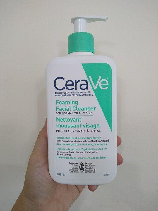Sữa rửa mặt Cerave Foaming cho da khô mẫu mới
