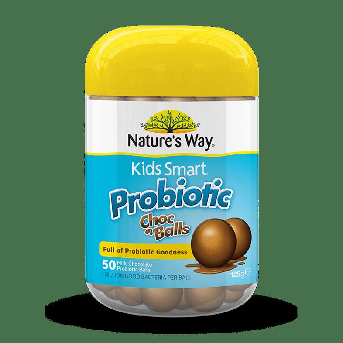 Viên bổ sung lợi khuẩn Probiotic Natures Way Kids Smart hương Socola và Vani sữa chua thơm ngon