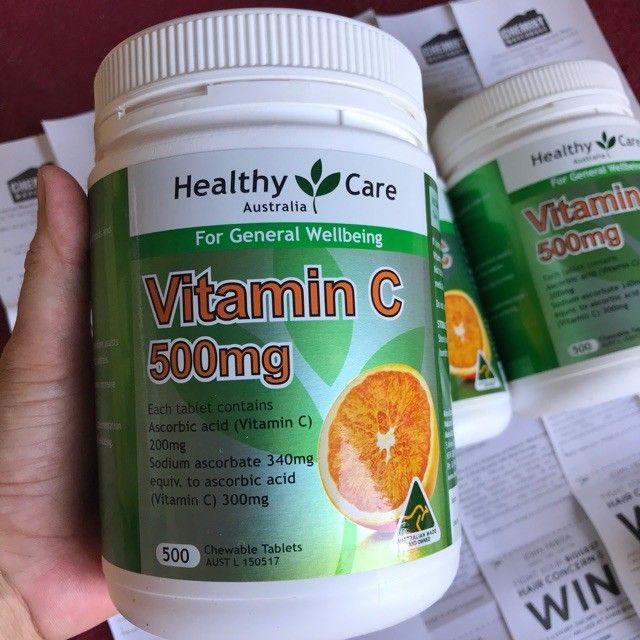 Viên Nhai Mềm Bổ Sung Vitamin C Healthy Care Của Úc