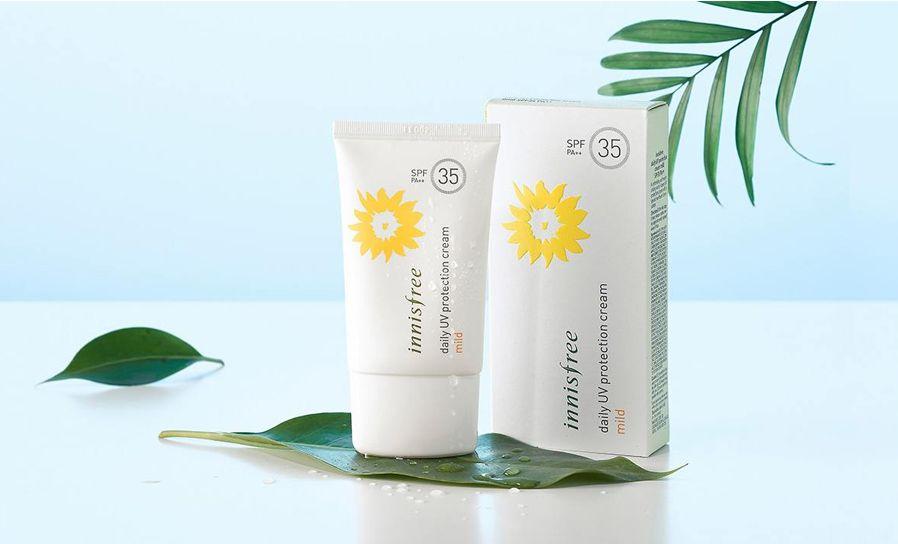 kem chống nắng Innisfree cho da khô Daily Mild SPF35 PA++