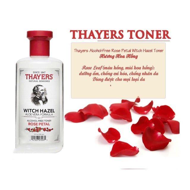 Nước Hoa Hồng Thayers Witch Hazel Alcohol Toner chính hãng giá tốt