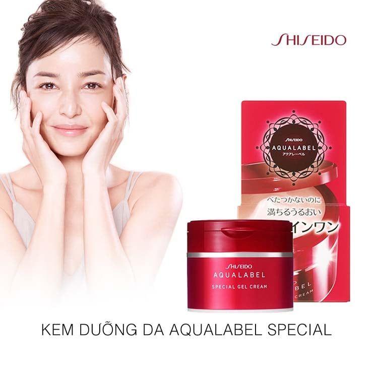 Review kem dưỡng da Shiseido Aqualabel đỏ có tốt không