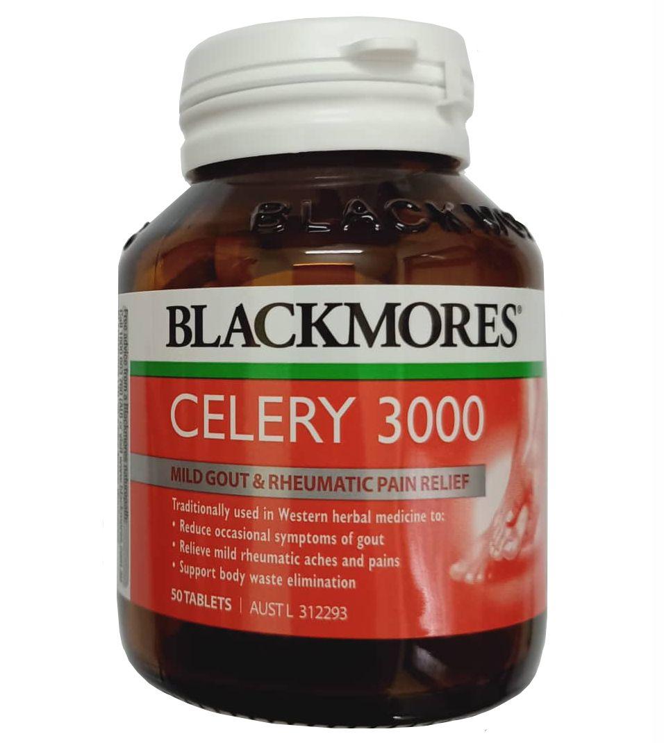 Viên uống Gout - Blackmores Celery 3000mg mẫu mới