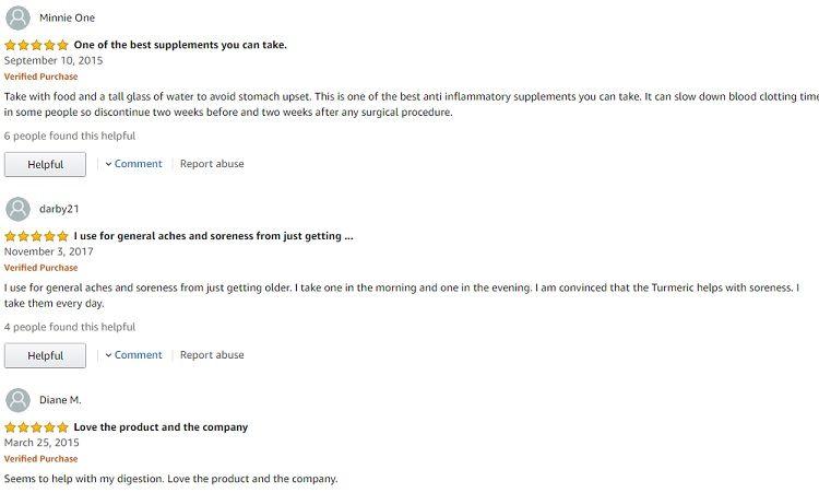Phản hồi từ phía khách hàng sử dụng Tinh chất nghệ Curcumin Puritan's Pride 1000mg (2)