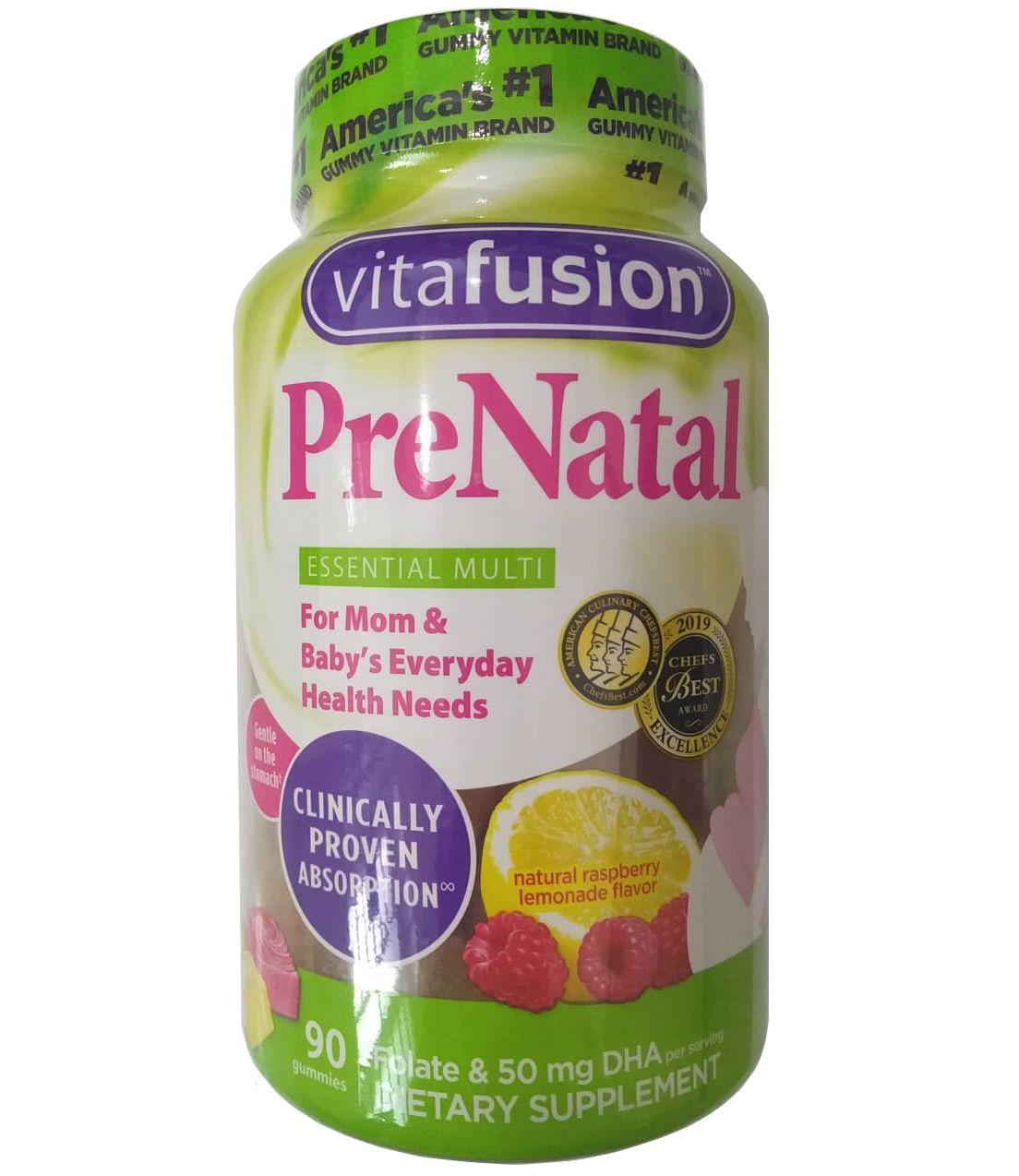 Kẹo bổ cho bà bầu Vitafusion Prenatal 90 viên của Mỹ
