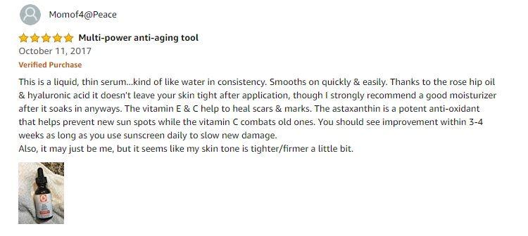 Phản hồi từ phía khách hàng sử dụng Oz Naturals Vitamin C serum 2