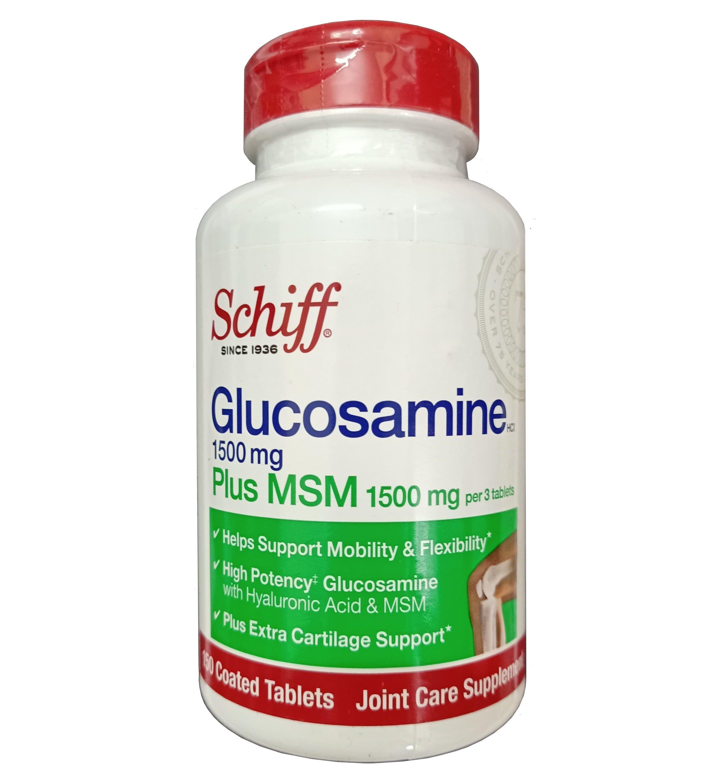 Schiff Glucosamine Plus MSM 1500mg Của Mỹ 150 Viên