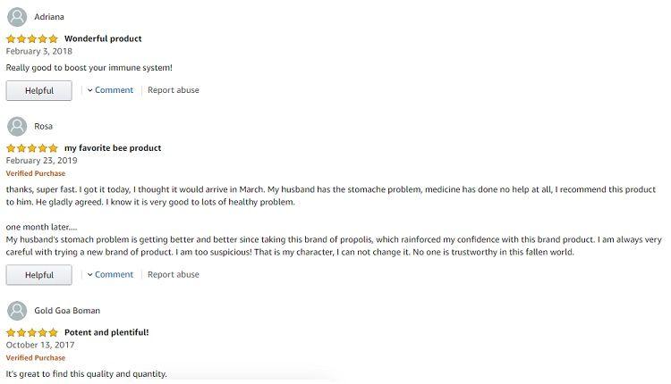 Phản hồi từ phía khách hàng sử dụng Keo ong Healthy Care Propolis 2000mg 1