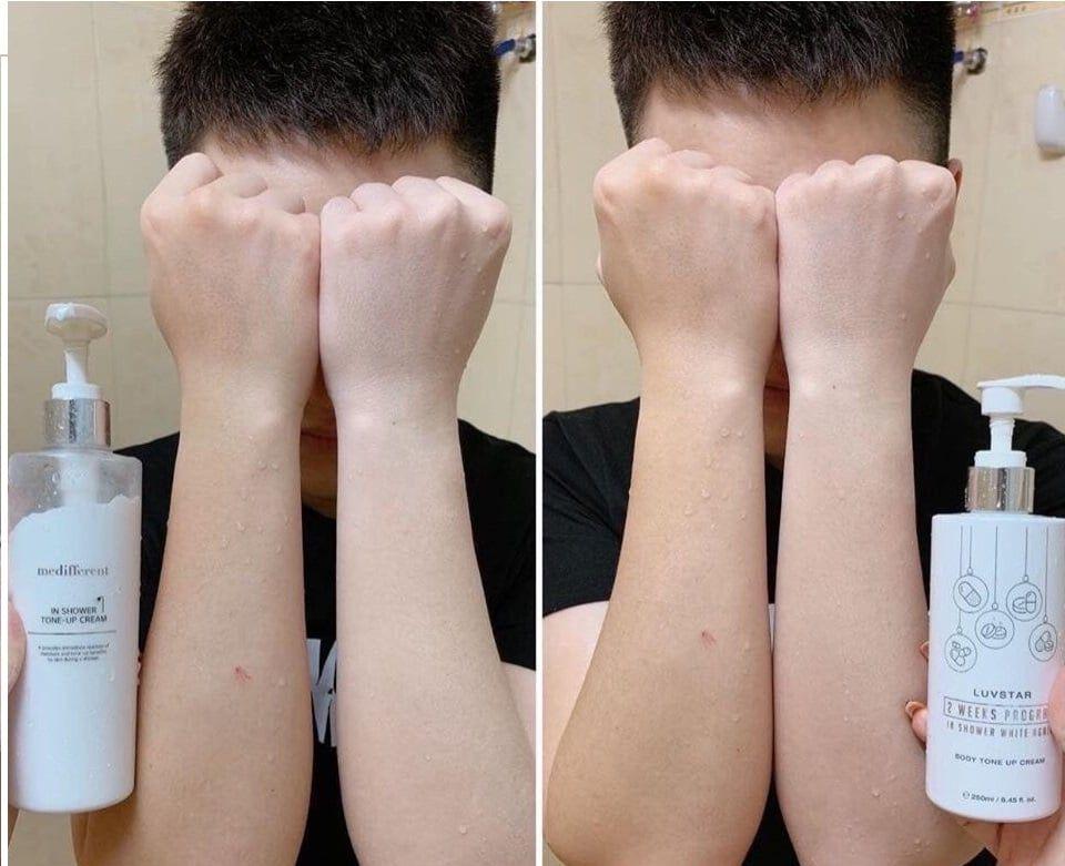 Sữa Tắm Trắng Da Luvstar Body Tone Up Cream Hàn Quốc