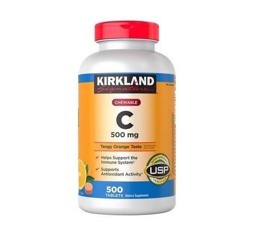 Viên Nhai Hỗ Trợ Bổ Sung Vitamin C 500mg Kirkland Của Mỹ