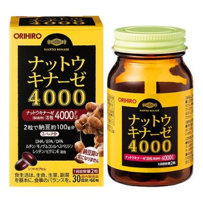 Viên Uống Hỗ Trợ Phòng Đột Quỵ 4000 FU Orihiro Nhật Bản