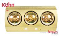 Đèn Sưởi Nhà Tắm Braun 3 Bóng Vàng