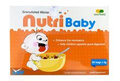 Cốm vi sinh Nutribaby giúp trẻ ăn ngon tăng cường sức đề kháng