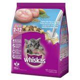 Thức ăn cho mèo con vị cá biển và sữa Whiskas Ocean Fish