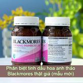 Cách phân biệt tinh dầu hoa anh thảo Blackmores thật giả (Mẫu mới)