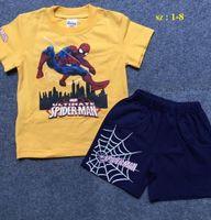 Bộ đồ bé trai hình Spiderman cho bé từ 1 -8 tuổi