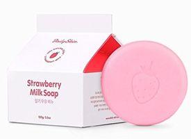 Xà Phòng Trị Mụn Hàn Quốc Strawberry Milk Soap
