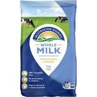 Sữa Tươi Dạng Bột Nguyên Kem Whole Milk 1kg Của Úc