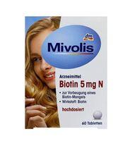 Viên Uống Hỗ Trợ Mọc Tóc Biotin 5mg N Das Gesunde Plus