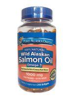Viên Dầu Cá Hồi Pure Alaska Omega Wild Alaskan Salmon Oil 1000mg