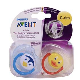 Hộp 2 Ty Giả Avent Free BPA Silicone Dưới 6m