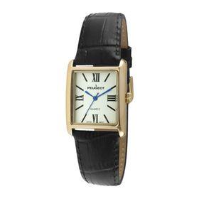 Đồng hồ nữ Peugeot 3036BK mặt vuông dây da đen