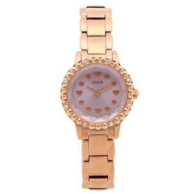 Đồng hồ nữ Guess U0907L3 mặt khảm trai màu rose gold