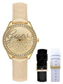 Set đồng hồ nữ Guess W0201L3 kèm 2 dây da case 40mm