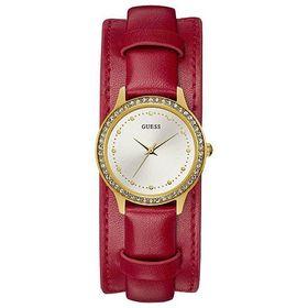 Đồng hồ nữ Guess dây da 2 style U1150L1 màu đỏ 30mm