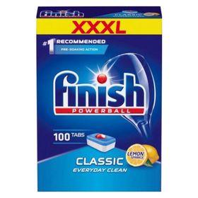 Hộp 100 viên rửa chén Finish Classic QT025446 hương chanh