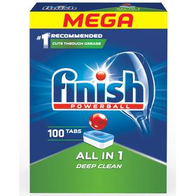 Hộp 100 viên rửa chén Finish All In 1 QT04592